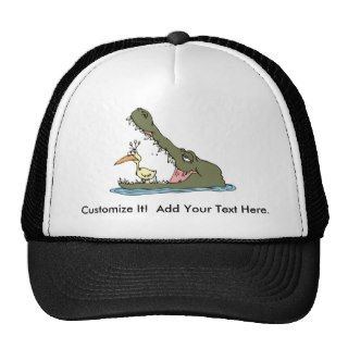 Alligator Crocodile ~ Gator Croc Cartoon Animal Mesh Hat