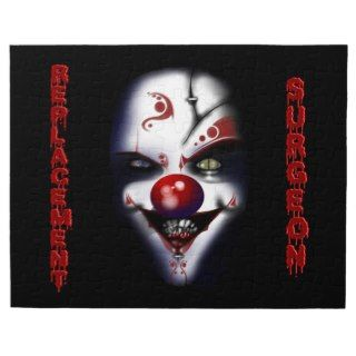 Replacement Surgeon   Evil Clown Jigsaw Puzzle