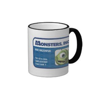 Monsters Inc. Mike Wazowski employee ID card Mugs
