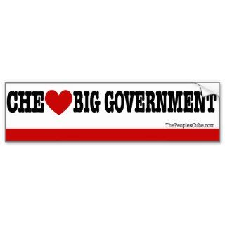 Che Guevara Che Loves Big Goverment BumperSticker Bumper Sticker