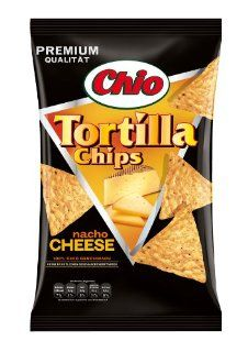 Chio Tortilla Chips Nacho Cheese, 3er Pack (3 x 125 g Packung):