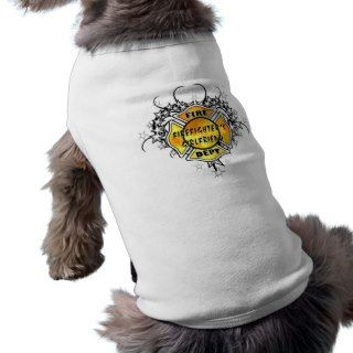 Firefighters Girlfriend Tattoo Dog Tee
