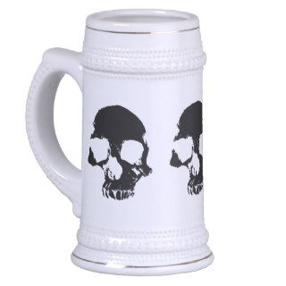 Scary skull cool gothic beer stein mugs
