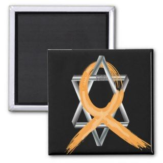 Orange Leukemia Survivor Ribbon Magnets