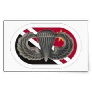 Jump Wings on 84th Engineer Co Oval Stickers