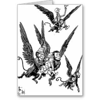 Wizard of Oz Flying Monkeys Greeting Cards