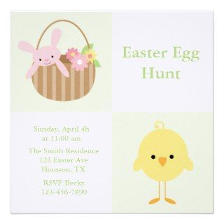 Spring Friends Easter Egg Hunt Invitiations Invite