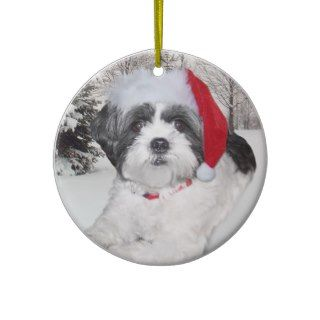 Christmas Shih Tzu Ornament