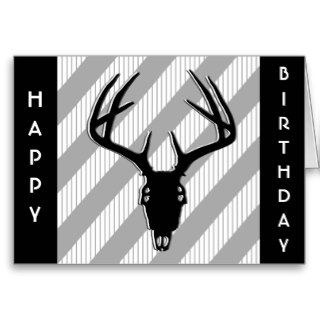 Deer Skull Birthday Card