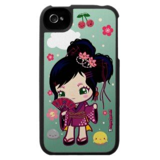 Wamono Japanese Girl Ayaka iPhone 4 Cases