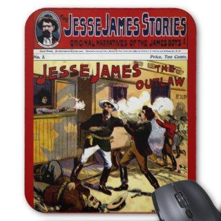 Jesse James Old West Mousepad