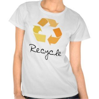Recycle! Orange design! Ecology products! Tee Shirt