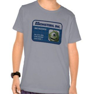Monsters Inc. Mike Wazowski employee ID card Tshirt