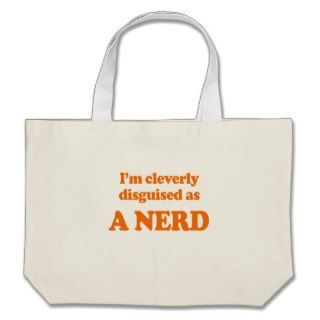 cleverly disguised as a nerd Costume Bags