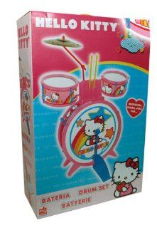 Hello Kitty Drum Set mit grosser Trommel 2 Bongos Fussmaschine und