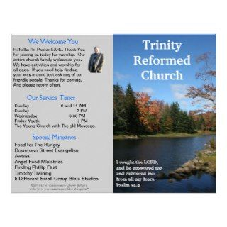 Customizable Weekly Church Bulletin (Outside Only) Personalized