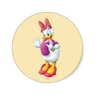 Daisy Duck 5 Round Sticker