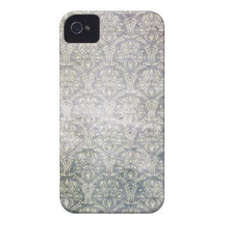 Vintage Violet Purple Damask Pattern Background Case Mate iPhone 4
