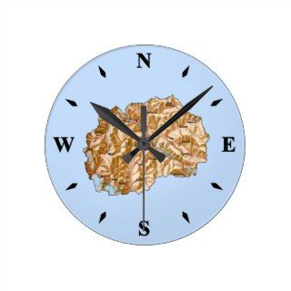 Macedonia Map Clock