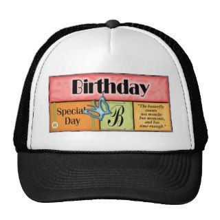 Butterfly Birthday Wishes Mesh Hats