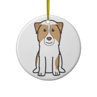 Australian Shepherd Dog Cartoon Ornament