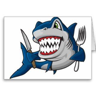 Am A Hungry Shark Greeting Cards