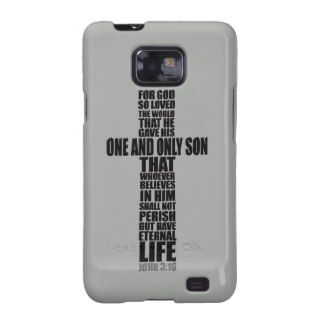 Christian Bible Verse John 3:16 Samsung Galaxy S2 Cases