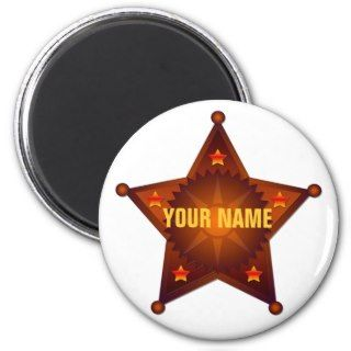 Blank Sheriff / Marshal badge Magnet