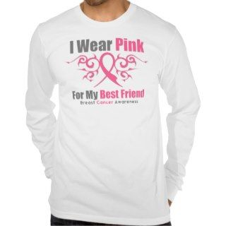 Breast Cancer Pink Tribal Ribbon Best Friend Shirt