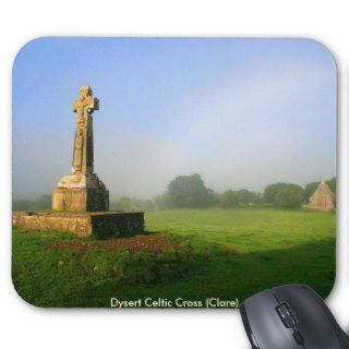 Dysert o Dea celtic cross Mouse Mats
