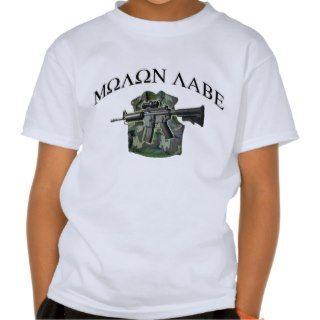 Molon Labe Gun Shirt  Bullet Proof Vest Shirt