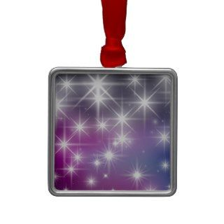 Winter, Purple, Lilac , White Lights, Sparkles Christmas Tree Ornament