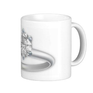 Diamond Ring Bling Clipart Mug