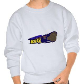 Bear Graffiti Art Pull Over Sweatshirts