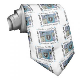 Molon Labe Logo in Cool Colored Modern Design Tie