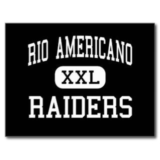 Rio Americano   Raiders   High   Sacramento Postcard