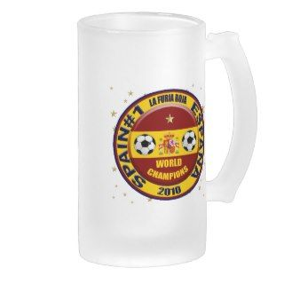 Spain 2010 World Champions Soccer Futbol Coffee Mugs
