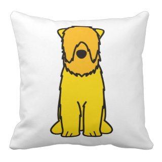 Black Russian Terrier Dog Cartoon Pillows