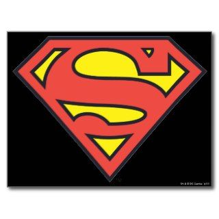Superman Logo Postcard