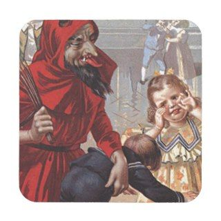 Krampus Spanking Child Beverage Coaster