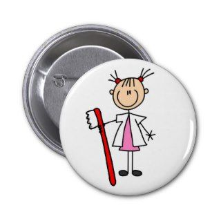 Dental Assistant With Toothbrush Buttons