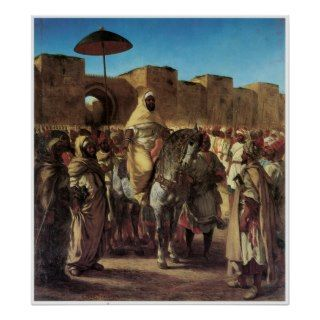 Sultan of Morocco Leaving his Palace i Meknes Posters