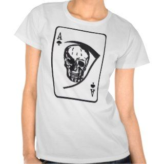 Skull and Scythe Vietnam Death Card T Shirts