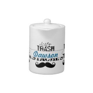 Dont Trash the Stache Mustache Retro Hipster