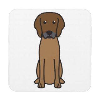Rhodesian Ridgeback Dog Cartoon Beverage Coasters