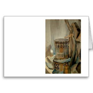 Wood Stove and Sythe Greeting Card