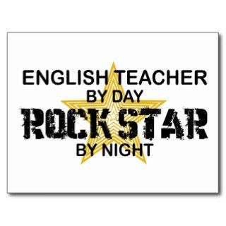 English Teacher Rock Star Post Cards