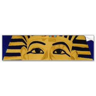 King Tut Tutankhamun gold burial mask sticker art Bumper Sticker