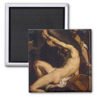 Daedalus and Icarus by Charles Le Brun Fridge Magnet