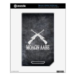 Molon Labe Crossed Rifles 2nd Amendment Skins For NOOK Color
